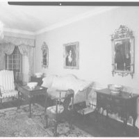 Michael Taradash, residence in Ardsley-on-Hudson, New York. Living room, sharp to sofa