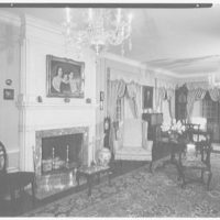 Michael Taradash, residence in Ardsley-on-Hudson, New York. Living room, to rear
