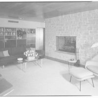 Mr. and Mrs. Jack Breard, residence at 4650 Meadowood Rd., Dallas, Texas. Living room, to rear
