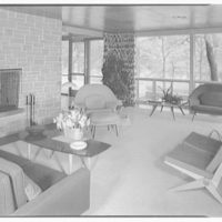 Mr. and Mrs. Jack Breard, residence at 4650 Meadowood Rd., Dallas, Texas. Living room