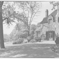 Mrs. Eleanor Widener Dixon, residence at 9002 Crefeld St., Chestnut Hill, Pennsylvania. View from path