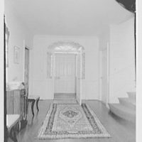 Mrs. Harold I. Pratt, residence on Shutter Lane, Oyster Bay Cove, Long Island. Entrance door