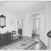 Mrs. Harold I. Pratt, residence on Shutter Lane, Oyster Bay Cove, Long Island. Entrance hall