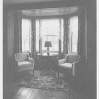 Mrs. Harold I. Pratt, residence on Shutter Lane, Oyster Bay Cove, Long Island. Pine study, to bay window