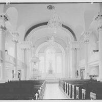 St. Paul's Chapel, Broadway & Fulton St., New York City. Interior, to chancel, horizontal