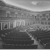 U.S. Capitol interiors. House chamber in U.S. Capitol