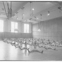 Walter R. Dolan Junior High School, Tom's Rd., Stamford, Connecticut. Boys' gym