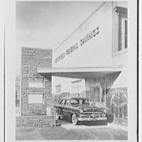 Westfield Federal Savings Bank, Westfield, New Jersey. Drive-in, general view