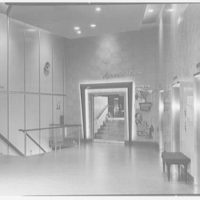 Algiers Hotel, 26th St. and Collins Ave., Miami Beach, Florida. Elevator lobby to night club