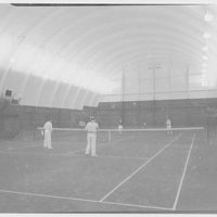 Arthur M. Loew, business on Red Spring Rd., Glen Cove, Long Island. Tennis court, interior I