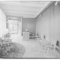 Becton Dickinson, East Rutherford, New Jersey. Interior from entrance to rear reception room