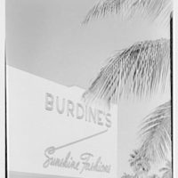 Burdine's department store, business in Miami Beach, Florida. Burdine's sign