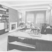 Dr. Morton Yohalen, residence at 79 Central Park West, New York City. View from dining room to living room