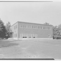 Fairleigh Dickinson College, Rutherford, New Jersey. Textile building, east facade