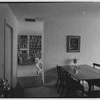 Gerrish Milliken, Jr., residence on Stiles Rd., Yale Farms, Connecticut. Dining room