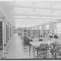 Goucher College, Towson, Maryland. Library interior II