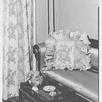 Greeff Fabrics, Inc., business at 4 E. 53rd St., New York City. Emma Cole's house, 29 Garden Pl., Brooklyn Heights, drape and cushion