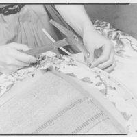 Greeff Fabrics, Inc., business at 4 E. 53rd St., New York City. Model at Emma Cole's II