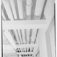 John Thompson Dorrance Laboratory, M.I.T., Cambridge, Massachusetts. Pipes in basement