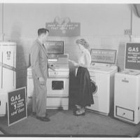 Long Island Light and Power Co., Mineola, Long Island. Sales display