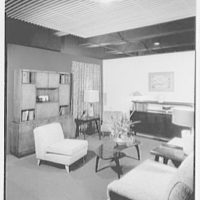 Ludwig Baumann, business at 35th and 8th Ave., New York. Living room with breakfront
