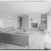 Marble Hills, Huntington, Long Island, New York. Creston house, dinette to living room