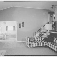 Marble Hills, Huntington, Long Island, New York. Durham house, living room to dinette