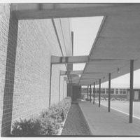Morgan High School, Clinton, Connecticut. View to overhang
