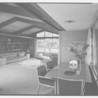 Mr. and Mrs. M. Bassevitch, residence in West Hartford. Living room I