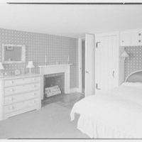 Mr. and Mrs. Paul Vautrin, residence in Redding, Connecticut. Bedroom