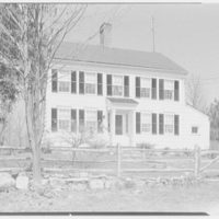 Mr. and Mrs. Paul Vautrin, residence in Redding, Connecticut. Exterior from front