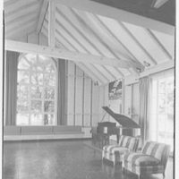 Mrs. Gerrish Milliken, residence on Stiles Rd., Yale Farms, Connecticut. Barn interior I