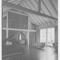 Mrs. Gerrish Milliken, residence on Stiles Rd., Yale Farms, Connecticut. Barn interior II