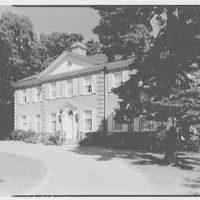 Mrs. R. Clifford Black, residence at 4611 Post Rd., Pelham, New York. Entrance facade