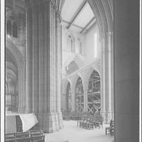 National Cathedral interiors. Transept interior of National Cathedral II