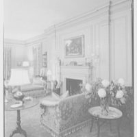 Robert M. Hillas, residence at Indian Harbor, Greenwich, Connecticut. Fireplace detail, living room