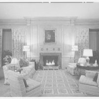 Robert M. Hillas, residence at Indian Harbor, Greenwich, Connecticut. Library, to fireplace