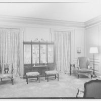 Robert M. Hillas, residence at Indian Harbor, Greenwich, Connecticut. Living room, to cabinet