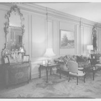 Robert M. Hillas, residence at Indian Harbor, Greenwich, Connecticut. Living room sidewall