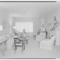 Samuel Herzlinger, residence at 2 5th Ave., New York City. View of living room