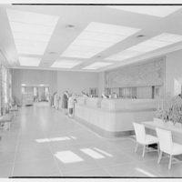 Suffolk County Federal Savings, Babylon, Long Island, New York. Main banking room
