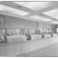 Suffolk County Federal Savings, Babylon, Long Island, New York. Teller's counter