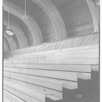 Vero Beach High School, Vero Beach, Florida. View to benches and ceiling