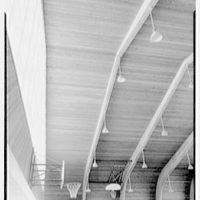 Vero Beach High School, Vero Beach, Florida. View to stairs and beams