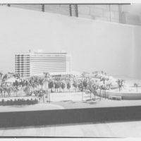 Fontainebleau Hotel model, Miami Beach. Model IV