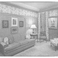 Mr. and Mrs. Herber Nelson, residence at 895 Park Ave., New York City. Living room, to drapery