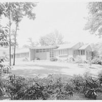 Ned Feldman, residence at 303 Linden Ave. and Jones Rd, Englewood, New Jersey. West facade from right