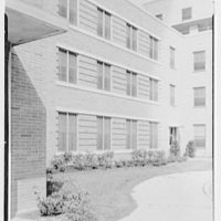 St. Albans Naval Hospital, Jamaica, New York. Brick and trim detail