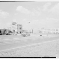 St. Albans Naval Hospital, Jamaica, New York. General view from fence