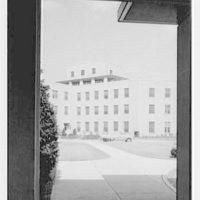 St. Albans Naval Hospital, Jamaica, New York. View through arch